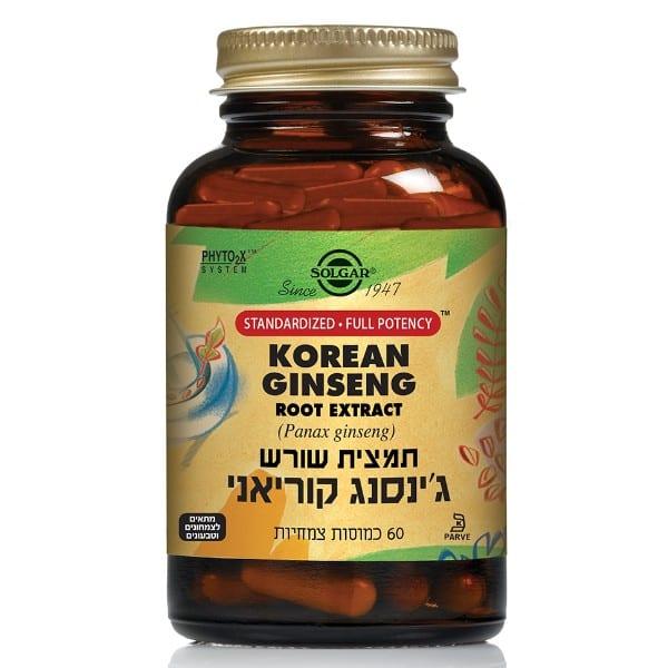 תמצית שורש גינסנג קוריאני תיקנית Korean Ginseng Root